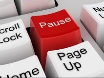 Pause Stock Image