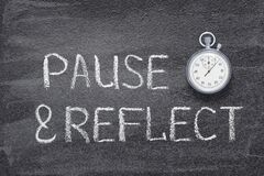 Free Pause And Reflect Watch Royalty Free Stock Images - 169726809