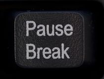 Pause Break Button. Keyboard Detail  Close up   - Black Royalty Free Stock Photography