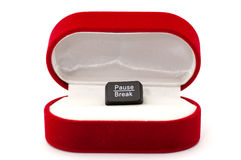 Pause, break key in ring case concept Royalty Free Stock Photo
