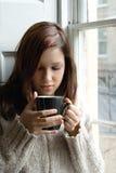 Pause café à la maison Images libres de droits