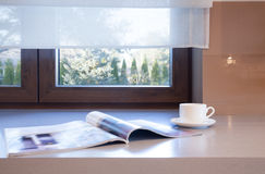 Pause-café à la maison photographie stock libre de droits
