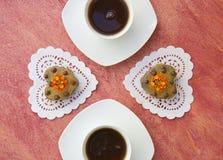 Pause-café à la Saint-Valentin Photographie stock libre de droits