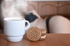 Pause-café érotique image libre de droits