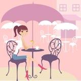 Pause café illustration libre de droits