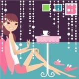 Pause café illustration de vecteur