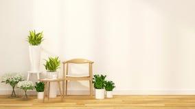 Pause-café avec le rendu d'intérieur de garden-3D Illustration Libre de Droits