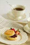 Pause café d'après-midi, thé crème, réception de thé Photo stock