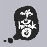 Pause-café dans une bulle de la parole Images libres de droits