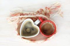 Pause-café de chauffage pour deux Images libres de droits