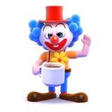 pause café du clown 3d Photos libres de droits
