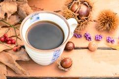 Pause-café en automne images stock
