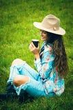 Pause-café en nature photo stock
