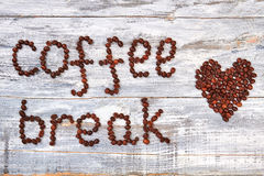 Pause-café et coeur de café Photo libre de droits