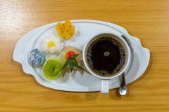 Pause-café et desserts Photographie stock