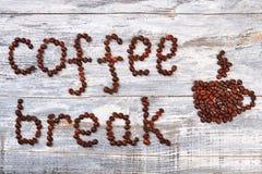 Pause-café et tasse image libre de droits