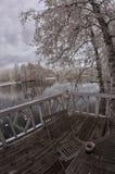Pause-café extérieure d'hiver de la Finlande Photo stock