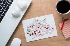 Pause-café pour la bonne idée Images libres de droits