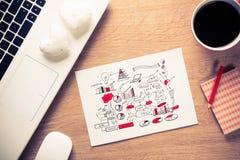 Pause-café pour la bonne idée Photo libre de droits