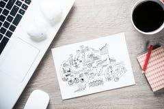 Pause-café pour la bonne idée Images stock