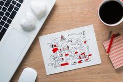 Pause-café pour la bonne idée Photo stock