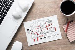 Pause-café pour la bonne idée Photos stock