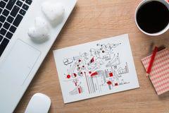 Pause-café pour la bonne idée Image libre de droits