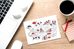 Pause-café pour la bonne idée Photographie stock
