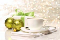 Pause café pour Noël Photographie stock libre de droits