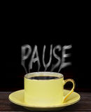 Pause for a coffee Stock Photo