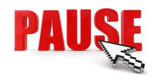 Pause and cursor (clipping path included) vector illustration