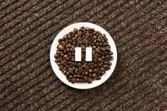 Pause de café image libre de droits