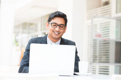 Pause de midi indienne d'homme d'affaires Photos stock