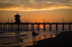 Pause de surfer Image stock