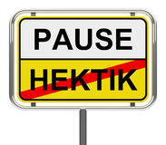 Pause-hektik Stock Photo