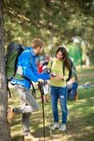 Pause from hiking to refresh hikers Stock Photography