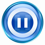 Pause icon blue Stock Photo