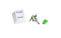 Pause key Royalty Free Stock Image