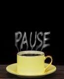 Pause pour une pause-café photo stock