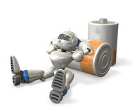 Pause of robot Royalty Free Stock Image