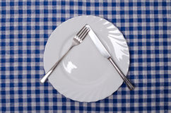Pause - table manners. Meal setting Royalty Free Stock Image