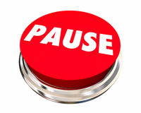 Pause Take Break Rest Recess Round Button Royalty Free Stock Photo