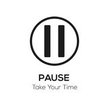 Pause visual, take your time concept vector illustration