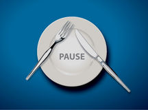Pause Royalty Free Stock Photo