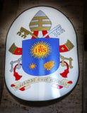 Pauselijk Symbool Santa Maria Della Pace Church Rome Italy stock foto's