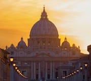 Pauselijke Basiliek van St Peter Royalty-vrije Stock Foto