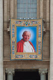 Pausen Heilig te verklaren Johannes XXIII en Johannes Paulus II Stock Fotografie