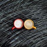 Pauses lumineuses de café de couleurs Photo stock