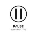 Pausvisuella hjälpmedlet, tar ditt tidbegrepp Arkivfoton