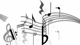 Pauta musical com notas ilustração stock